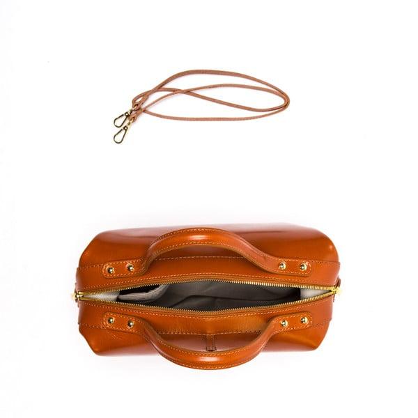 Kožená kabelka Isabella Rhea 355 Cognac