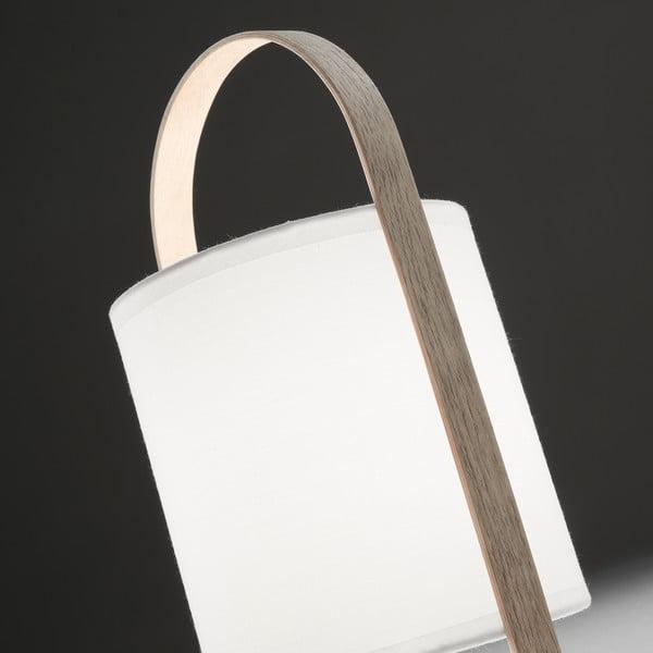 Bílá stolní lampa La Forma Zayla