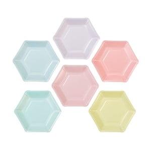 Sada 12 papírových talířů v 6 různých barvách Talking Tables Unicorn
