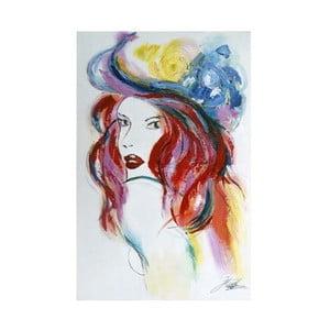 Obraz Dívka s kloboukem I, 60x90 cm