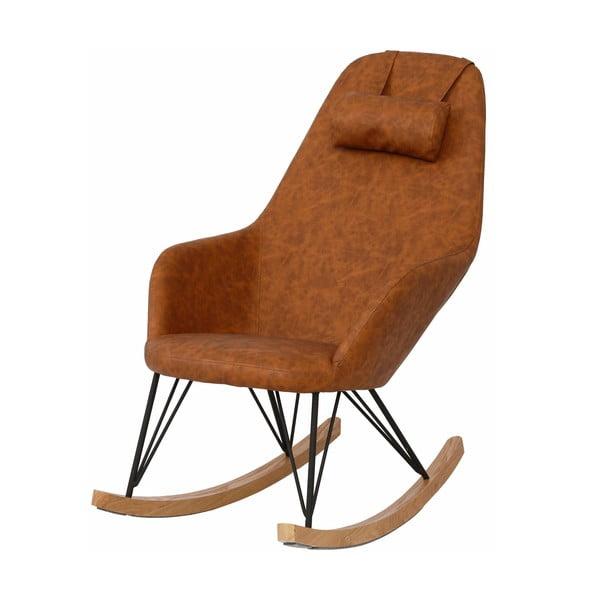 Brązowe krzesło bujane Støraa Naomi
