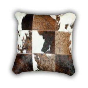 Polštář z pravé kůže Pipsa Cow, 50x50cm