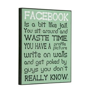 Cedule Facebook is a bit like, 30x25 cm