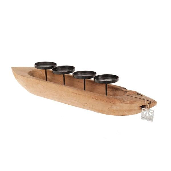 Svícen Dijk Natural Collections Teak Boat