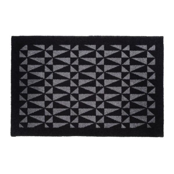 Čierno-sivá rohožka Tica copenhagen Graphic, 60×90 cm