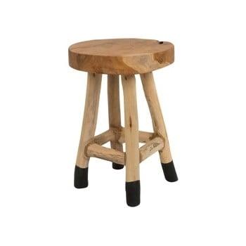Scăunel din lemn de tec White Label Harry imagine