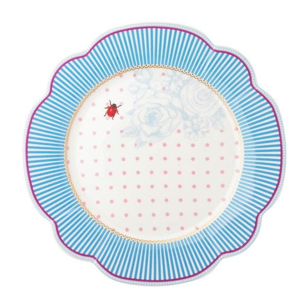 Porcelánový talíř  Stripie od Lisbeth Dahl, 24 cm, 4 ks