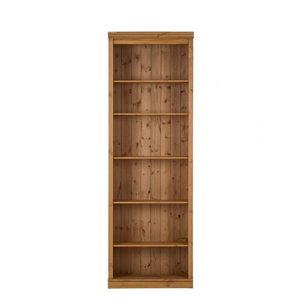 Hnědá knihovna z borovicového dřeva Støraa Annabelle