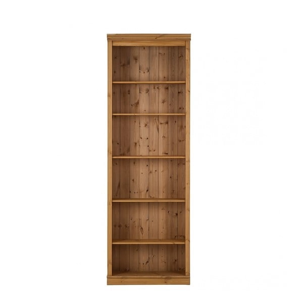 Bibliotecă din lemn de pin Støraa Annabelle, maro