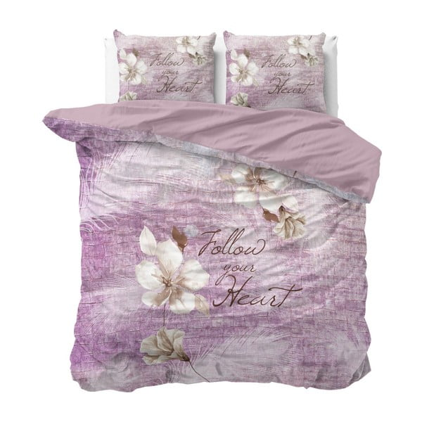 Bavlněné povlečení na dvoulůžko Sleeptime Blossom, 200 x 220 cm