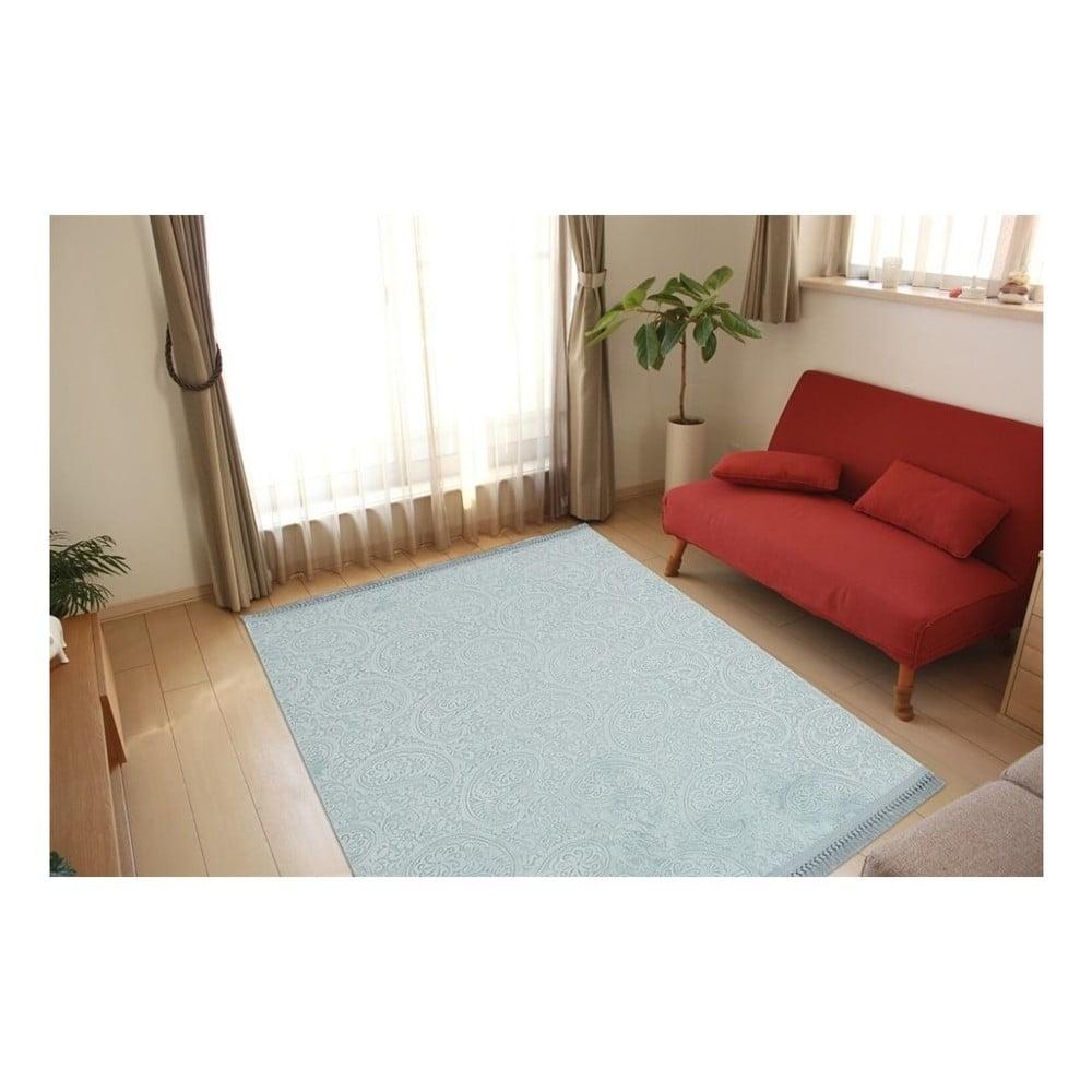 Mentolově zelený koberec Aksu Nevra, 150 x 80 cm