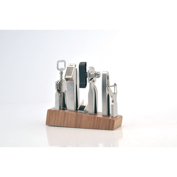 Set kuchyňských nástrojů Orion v dřevěném stojanu