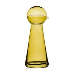 Karafa na víno Birdie,jantarová, 0,5 l