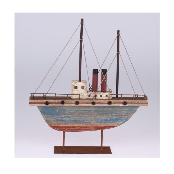Dřevěná dekorace Loď