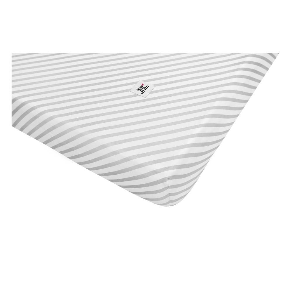 Dětské bavlněné prostěradlo BELLAMY Stripes, 40 x 90 cm
