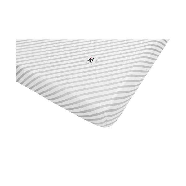 Cearceaf din bumbac pentru copii BELLAMY Stripes, 60 x 120 cm