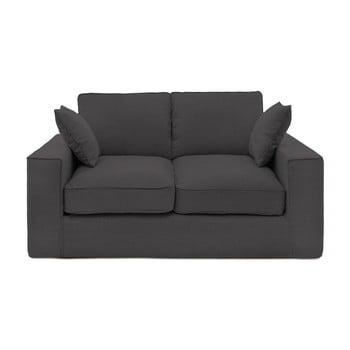 Canapea cu 2 locuri Vivonia Jane, gri antracit de la Vivonita