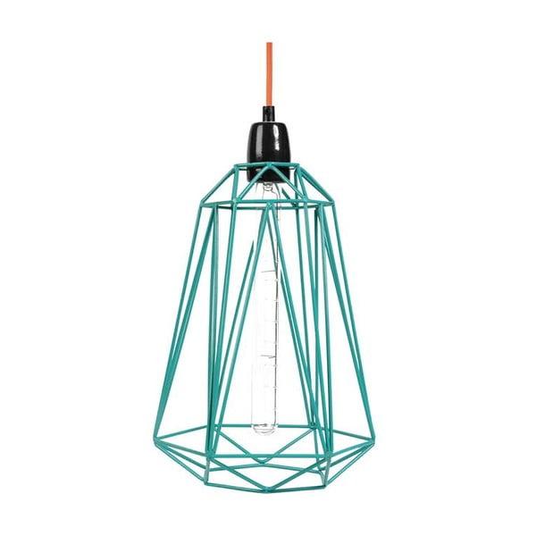 Světlo s modrým stínítkem a oranžovým kabelem Filament Style Diamond #3