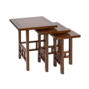 Sada 3 stolků ze dřeva mindi Santiago Pons Hula