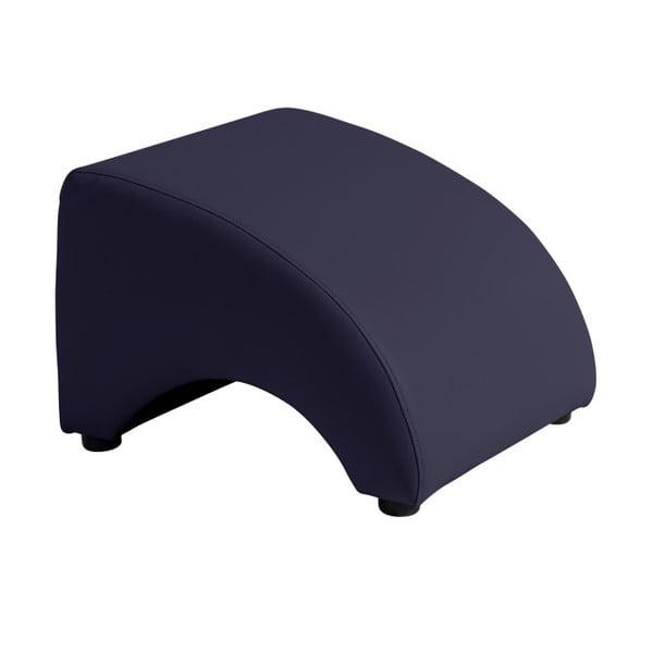 Tmavě modrá koženková podnožka Max Winzer Brandford