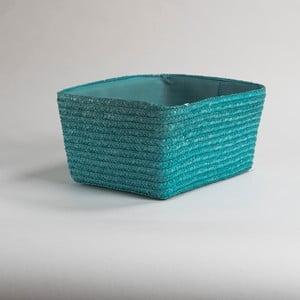 Zelený  pletený úložný košík Compactor Hawai