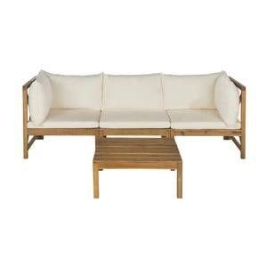 Set zahradní lavice a odkládacího stolku z akátového dřeva Safavieh Sherwood