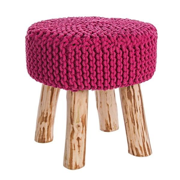 Taburetka Weave, růžová