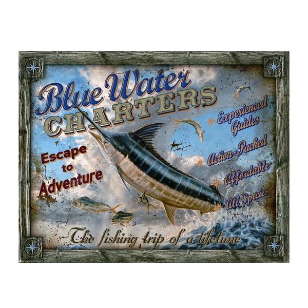 Plechová cedule Blue Water