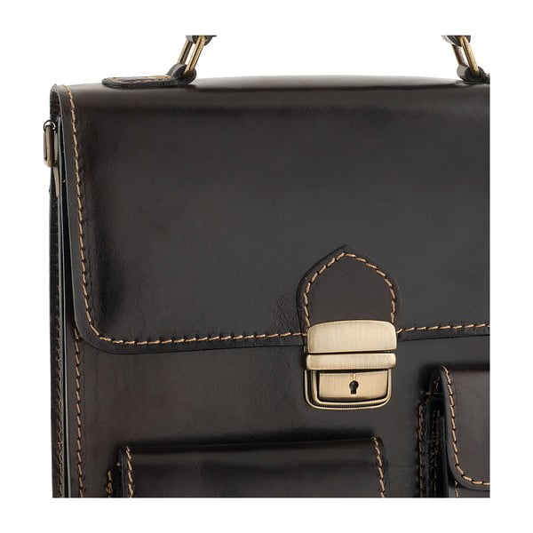 Kožená taška Ore Diece Urbino, tm. hnědá