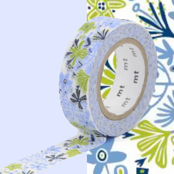 Niebiesko-zielona taśma dekoracyjna washi MT Masking Tape Beng and Lotta