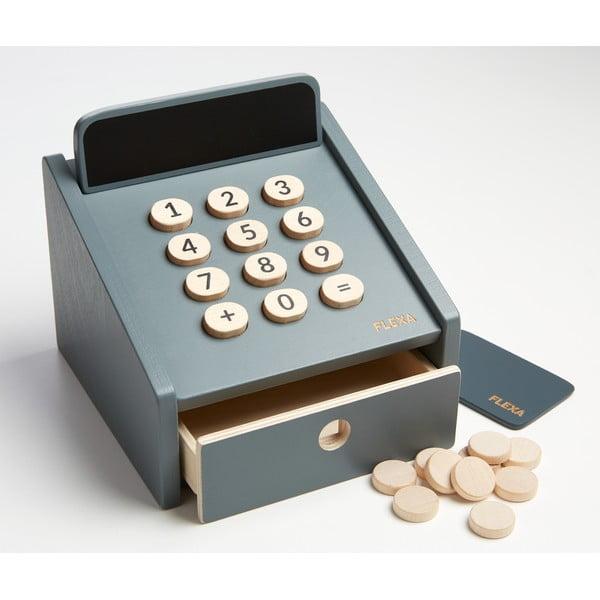 Dřevěná dětská pokladna Flexa Toys Shop Cashregister