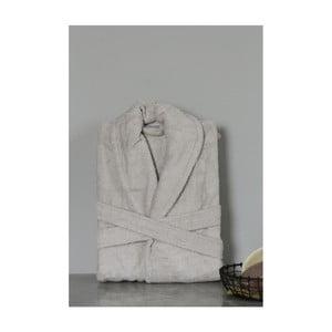 Světle šedý unisex župan z bavlny a bambusu My Home Plus Spa