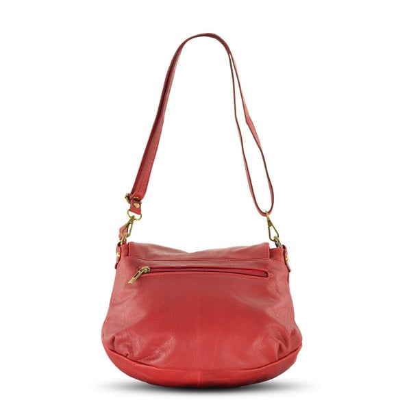 Kožená kabelka Celia, červená