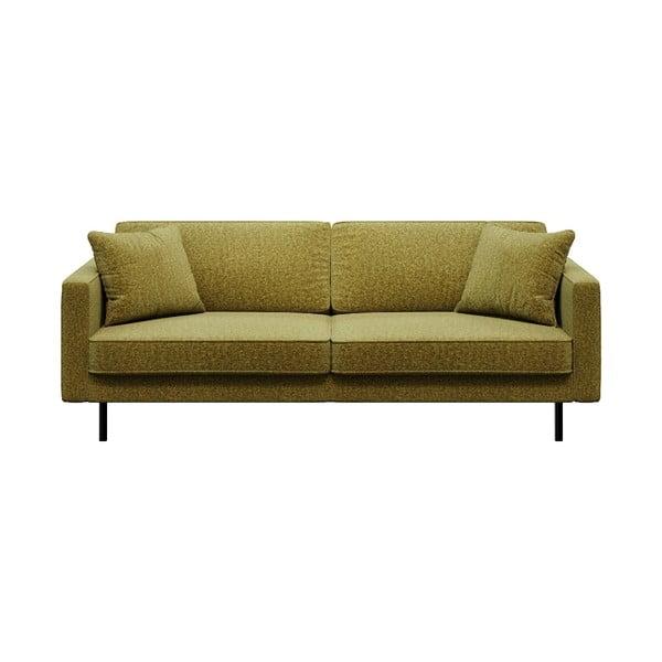 Kobo olívazöld háromszemélyes kanapé - MESONICA