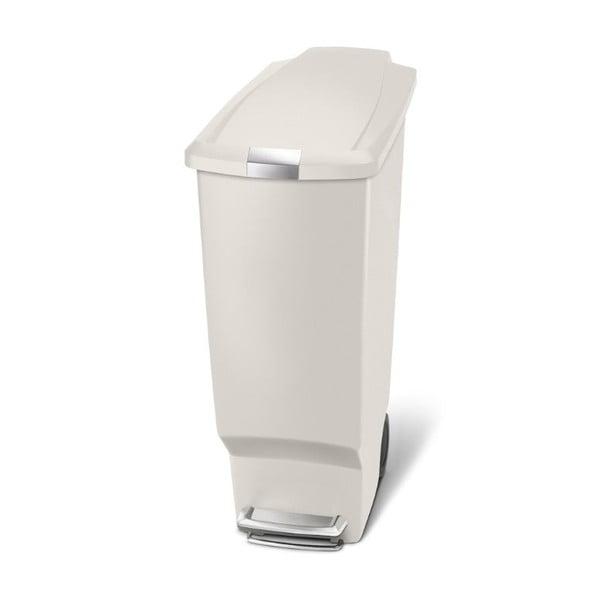 Béžový pedálový koš na odpadky simplehuman Sisi, 40 l