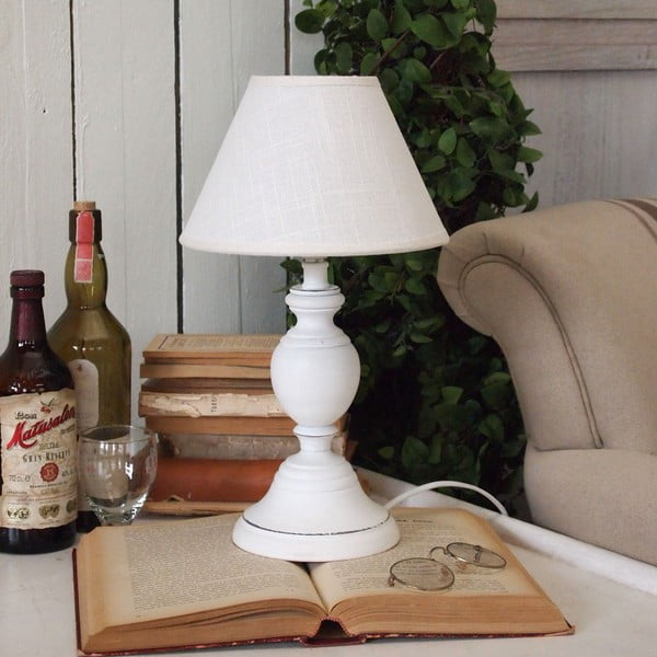 Stolní lampa White Antique, 38 cm