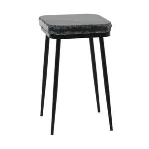 Odkládací stolek s tmavě šedou mramorovou deskou Fuhrhome Naples