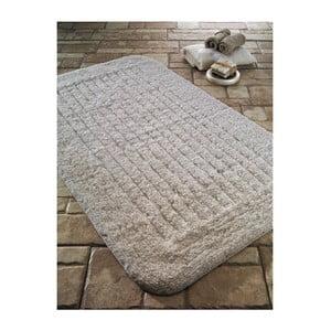 Krémová bavlněná koupelnová předložka Confetti Bathmats Cotton Stripe, 60 x 100 cm
