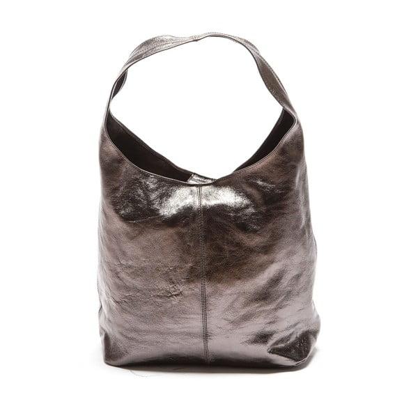 Sivá kožená kabelka Sofia Cardoni Lucia