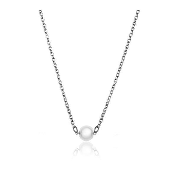 Pearl női nyaklánc ezüstszínű gyöngy alakú medállal - Emily Westwood