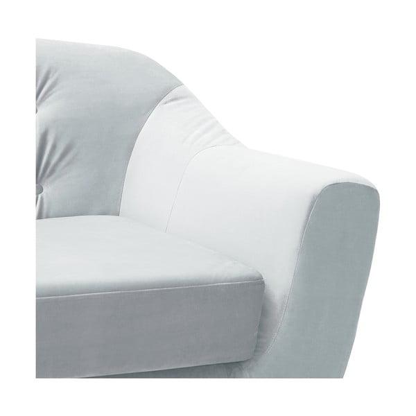 Canapea 2 locuri Vivonita Laurel, gri deschis