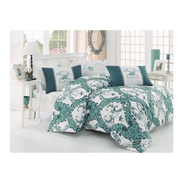 Lenjerie de pat cu cearșaf BHPC Becky, 200 x 220 cm