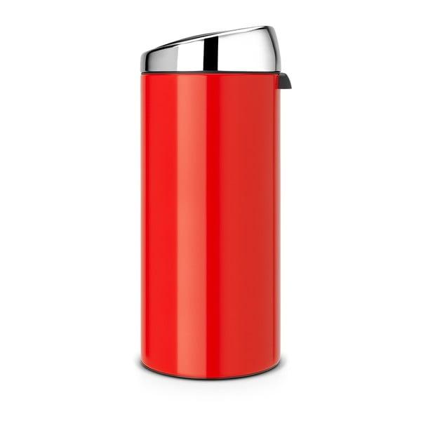 Dotykový odpadkový koš Touch Bin, 30 l, červený