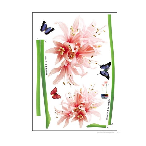 Set autocolante Ambiance Lilly Flower