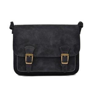 Černá kožená kabelka Renata Corsi Gurmeno