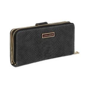 Černá peněženka z koženky Laura Ashley Keesey