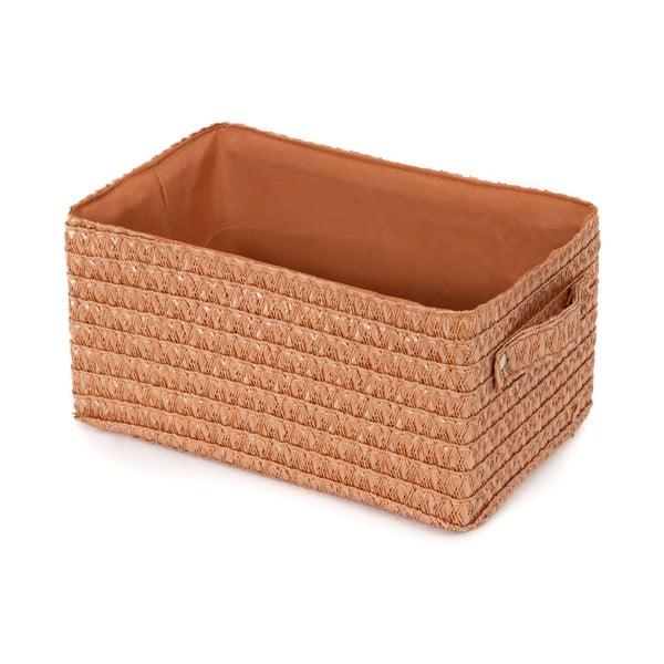 Różowopomarańczowy koszyk Compactor Lilou Basket Pink Blush