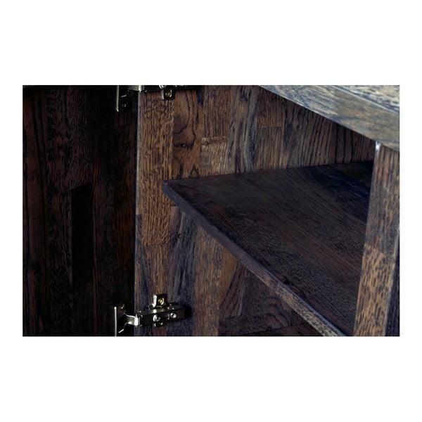 Comodă din lemn de stejar Folke Heimdal, maro închis