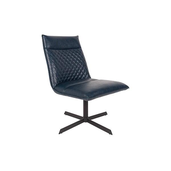 Modrá židle White Label Ivar