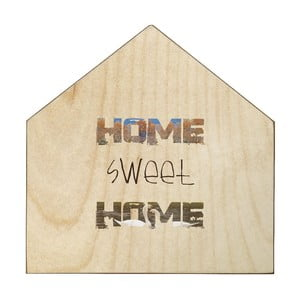 Dřevěná cedule Home Sweet Home, 30x30 cm